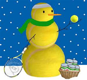 tennis-snowman