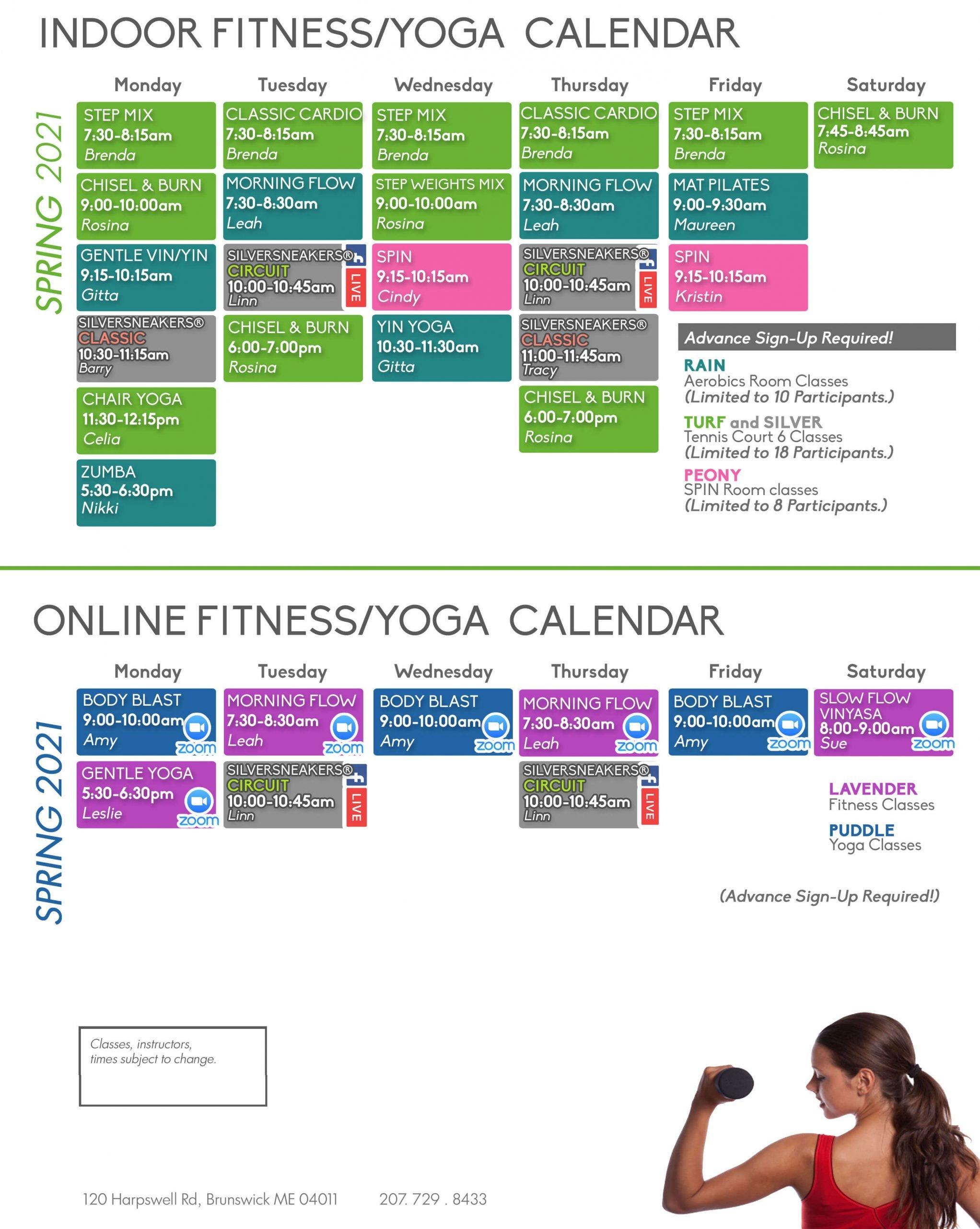 Maine Pines Fitness/Yoga Calendar June 2021